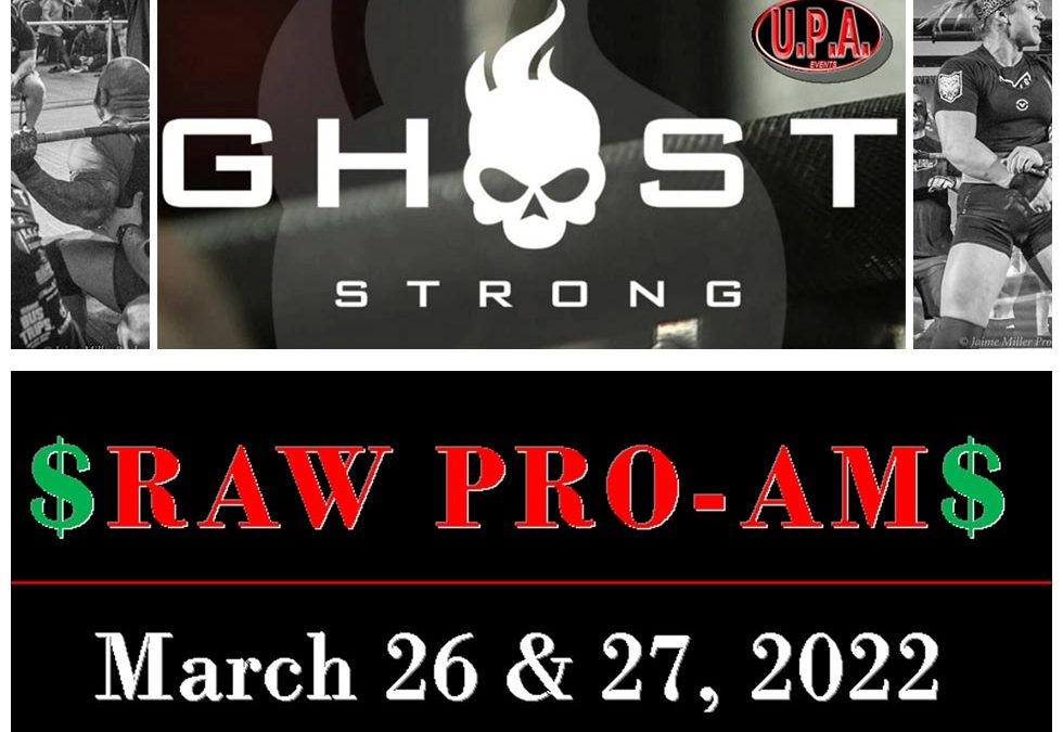 Ghost Strong and UPA Events are teaming up to bring Pro Powerlifting back to Iowa!