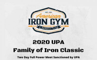 March 14, 2020 UPA Family of Iron Classic – Reno, NV