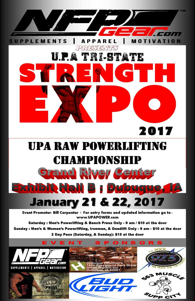 UPA Raw Powerlifting Championship Roster List…