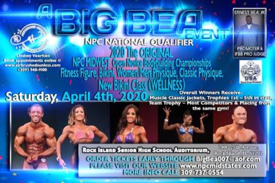 April 4, 2020 NPC The Original Midwest Bodybuilding Championships – Rock Island, IL